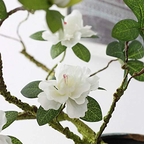 HYLZW Kunstmatige Bloem Plant 90 Cm Kunstmatige Azalea Magnolia Bloem Schuimende Tak Zachte Vorm Decoratieve Bloem Azalea Lange Stammen Nep Bloem Decoratie