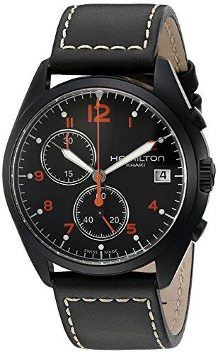 [ハミルトン] 腕時計 Khaki Pilot Pioneer Chrono(カーキ パイロット パイオニア クロノ) H76582733 正規輸入品 ブラック