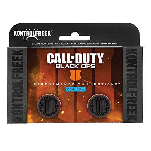 KontrolFreek Call of Duty: Black Ops 4 Manette pour PlayStation 4 (PS4) | Joysticks de Performance | 2 Taille Haute | Noir/Orange