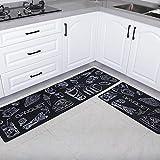 OPLJ Alfombrillas impermeables para puerta de cocina, a prueba de aceite, alfombra de cocina, alfombra de bienvenida, alfombra de cocina, alfombra de noche, alfombrilla de baño, tamaño A1, 40 x 120 cm