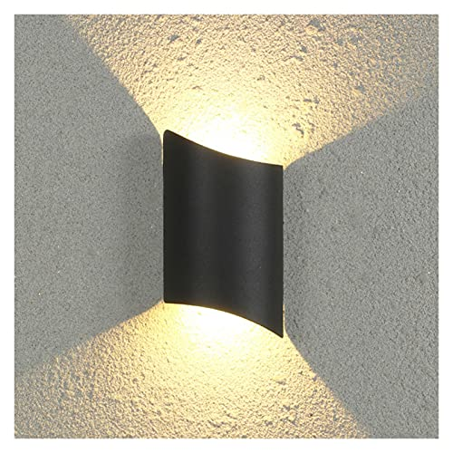 lámpara de pared Lámparas de pared Dormitorio Decoración IP65 Lámpara vintage Armario de baño Montado en la pared Terranze impermeable (Color Temperature : Cold white, Size : 1)