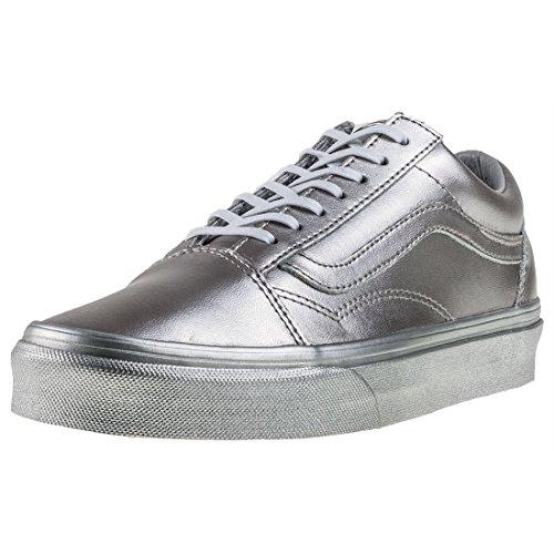 Vans Old Skool Damen Sneakers Silver - 5 UK