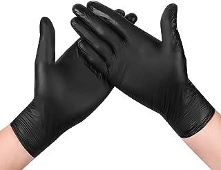 100st zwarte onderzoekshandschoenen Nitril poeder gratis wegwerphandschoen Multifunctionele handschoenen