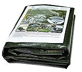 Alion Home Heavy Duty 12 Mil Poly Tarps Waterproof Covers for Tarpaulin Canopy, Camping, Carport, Boat, Furniture, Floors, RV, Pool or Roof Repair Items (4x20 ft (2-Pack), Dark Green)