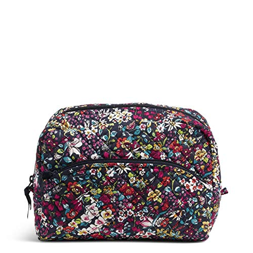 Vera Bradley Women's Signature Cotton Large Cosmetic Makeup Organizer Bag, Itsy Ditsy, One Size