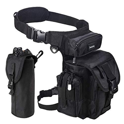 Jueachy Bolsa de Pierna Táctical Militar Impermeable Multifuncional  Bolso de Cintura