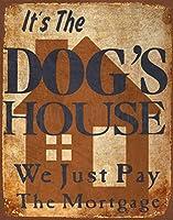 犬小屋、ブリキの看板、ヴィンテージ鉄の絵の金属板ノベルティ装飾クラブカフェバー