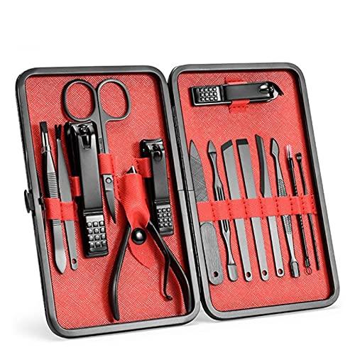 CJshop Manicura Pedicura Set Cutters de uñas Cutters Manicure Cutters Negro Nail Clippers 15 PCS Combinación 7 PCS de cortadores de manicura Herramientas Accesorios Set de Tijeras de Uñas ⭐