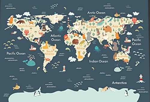 HJHJHJ Rompecabezas 2000 Piezas para Adultos Mapa de la Vida Marina 3D Divertido Juego Educativo Intelectual descomprimir Interesante Rompecabezas 100x71cm
