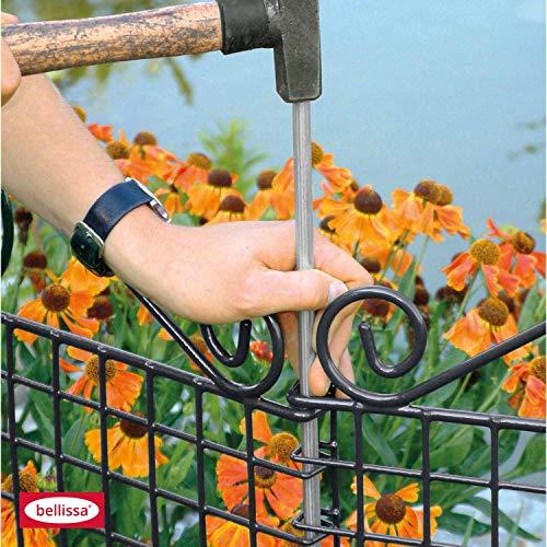 bellissa Zusatz-Bodenanker verzinkt 115 cm Boden Anker Zusatz Teichschutz Zaun