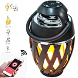 Flame Light Speaker, Amomb Upgraded Stereo Sound Portable Wireless Speaker Outdoor...