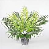 Homyl Grün Kokosnuss Palmblätter Kunstblätter Deko Künstliche Blätter - 3 - 5