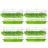 Huntfgold Seed Sprouter Tray - Bandeja para semillas sin BPA (orificio extrapequeño, no requiere papel)