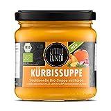 Little Lunch Bio Suppe Kürbis | 350ml | 100% Bio-Qualität | Vegetarisch | Ohne zugesetzten Zucker | Glutenfrei | Keine künstlichen Zusätze | Ohne Geschmacksverstärker