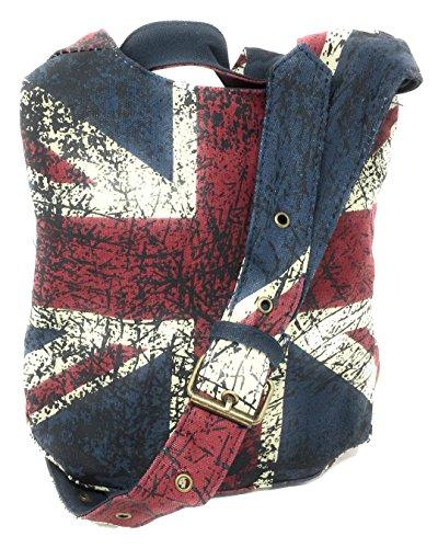 Schultertasche Union Jack blau Canvas Crossbody Umhängetasche Robin Ruth OTG200R