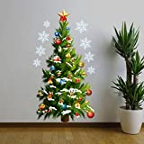 PAOLIAN 45 * 82Cm Navidad Árbol Pared Etiqueta Vinilo Extraíble Casa Pared Decoración