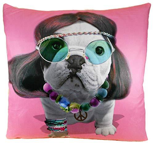 Trends & Trade GCE F79 - Funda de cojín (40 x 40 cm), diseño de bulldog