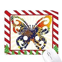 蝶の花 ゴムクリスマスキャンディマウスパッド