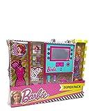Barbie- Uper Pack Estuche con Luz y Maquillaje con Muñeca, Color Rosa (Markwins Beauty Brands 9730710)