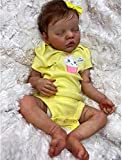 GLXLSBZ Muñeca Reborn muñecas realistas de 46 cm muñecas realistas de Vinilo de Silicona Suave Juguete para niños pequeños niña 46 cm de Tela simulación Corporal muñeca renacida