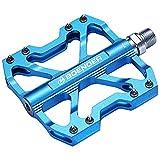 Boenoea Pedales de bicicleta MTB de aluminio antideslizante para bicicleta de montaña, BMX, MTB