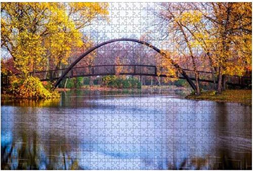 Tenney Park Bridge - Rompecabezas grandes de 500 piezas para adultos, juguetes educativos para niños, juegos creativos, entretenimiento, rompecabezas de madera, decoración del hogar-PUZZLE9