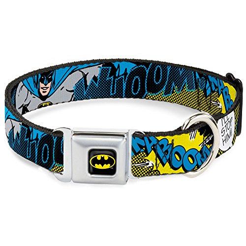 "Buckle-Down Seatbelt Buckle Dog Collar - Batman Scene1 - 1.5"" Wide - Fits 18-32"" Neck - Large"