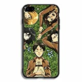Attack On Titan Case For iPhone Clear Soft Airbag Anti Phone Cover For Funda iPhone 7 Plus Attack On Titan Fundas básicas-A_for_iphone11