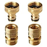 GORILLA EASY CONNECT Lead Free Locking Garden Hose Quick Connect Fittings. ¾ Inch GHT Solid Brass. (2)