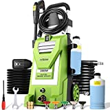 mrliance 3800PSI Electric Pressure Washer 3GPM High Pressure Power Washer Machine with 5 Spray Tips, Soap Bottle, 2000W Car Washer, Pressure Cleaner for Fences/Patios (Green)