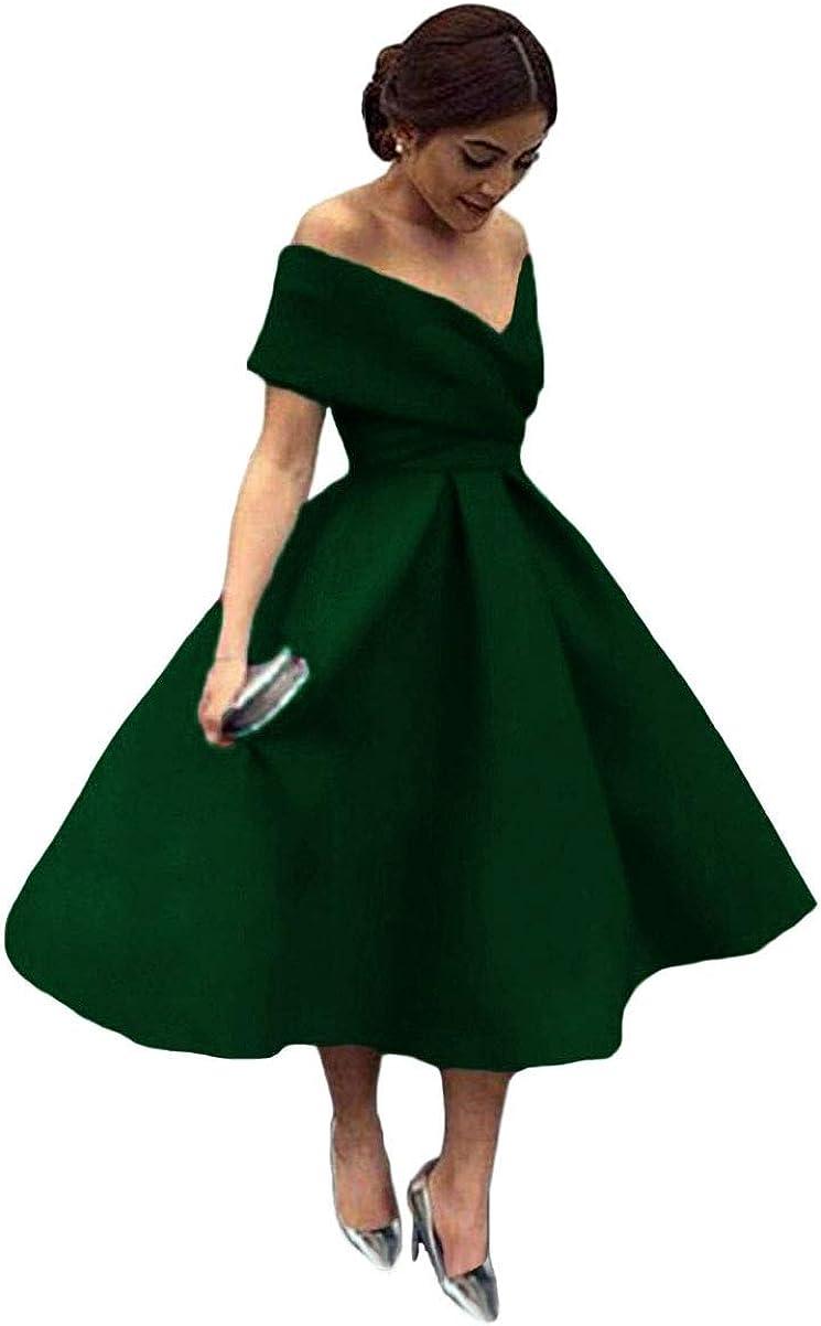 Tsbridal Women V Neck Bridesmaid Dresses Pockets Off Shoulder Wedding Party Dress
