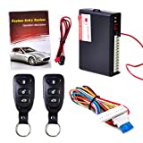 beler Universal Car Door Lock Vehicle Keyless Entry System Auto Remote Central Kit with 2 Remote Controllers