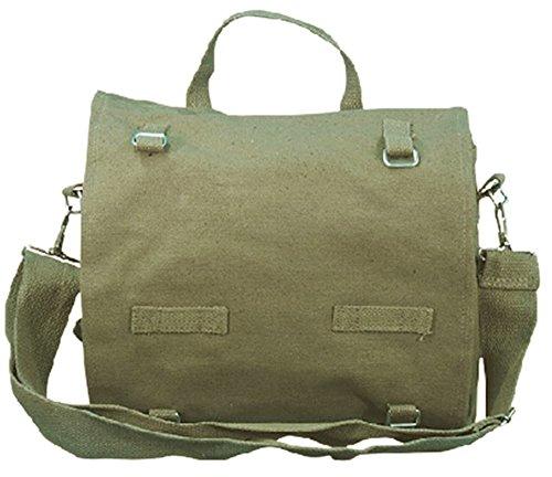 BW Schultertasche Kampftasche Gross Oliv Baumwolle Army Style Tasche