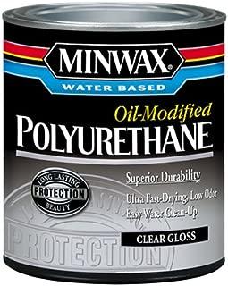 Minwax 630150444 Minwax Water Based Oil-Modified Polyurethane, quart, Gloss