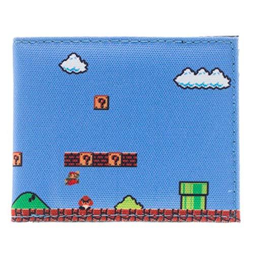 Portefeuille spécial Gamer Jeux Vidéos Nintendo Super Mario Zelda Nes Capcom Street Fighter Bioworld Au choix (1 super mario Bleu)