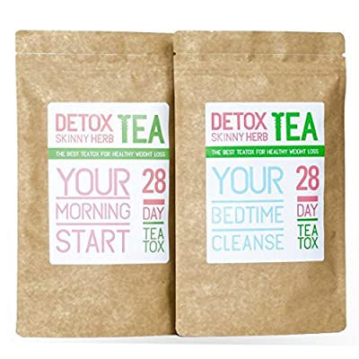 28 Days Teatox: Detox Skinny Herb Tea - Effective Detox Tea, Only Natural and Organic Ingredients, Full Body Cleanse, Teatox by Healthy Steps