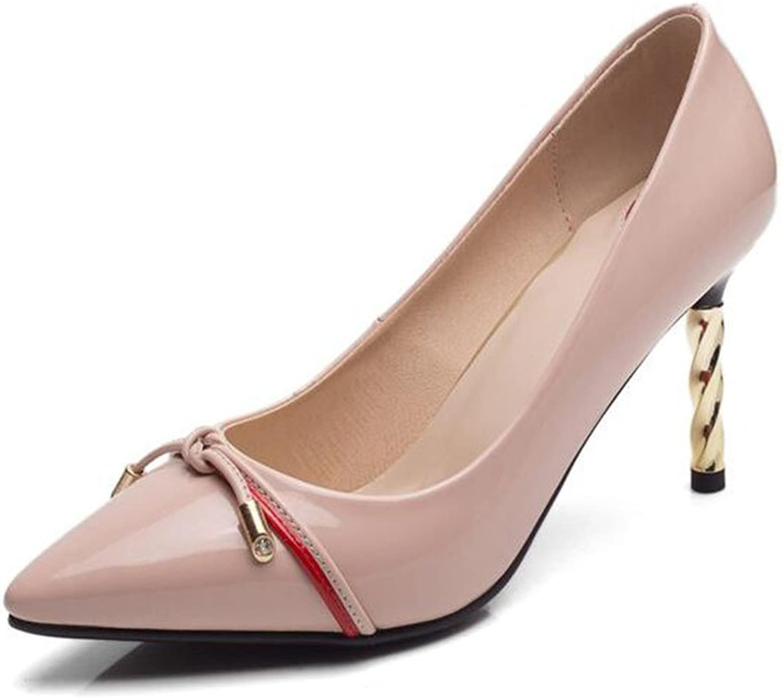 XUERUI Ms High Heels Stilettos Elegant Beautiful Fashion Fit 7cm Heel (color   Pink, Size   EU37 UK4.5-5 CN37)