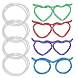 4 Piece Silly Glasses Straw for Kids Party...