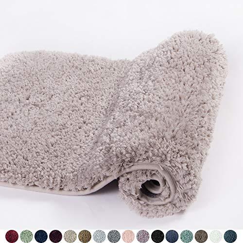 Walensee Bath Rug for Bathroom Non Slip Bathroom Mat (20 x 32, Light tan) Water Absorbent Soft Microfiber Shaggy Bathroom...