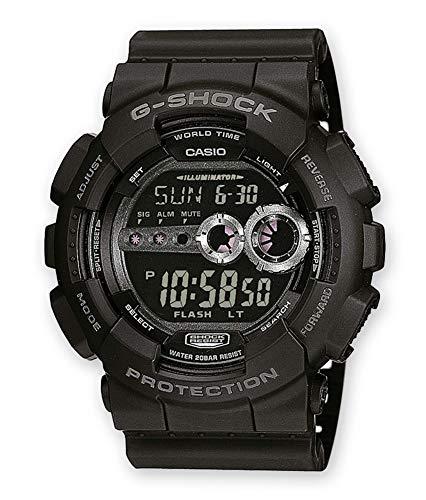 Casio G-SHOCK Reloj Digital, 20 BAR, Negro, para Hombre, GD-100-1BER