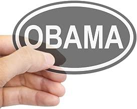CafePress Obama 08' Black Euro Oval Sticker Oval Bumper Sticker, Euro Oval Car Decal