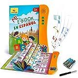 LAPPAZO Libro Electrónico de Sonido en Español Juguetes de Aprendizaje para Bebés Niños Máquinas de Lectura para niños 1-5 Años Aprender Idioma con Juegos Juguete Educativo Infantil