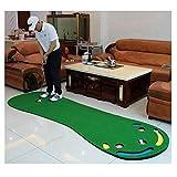 ZJMK Alfombra de Putting Alfombra de Práctica de Golf Green para Sala de Estar, Práctica de Putting Interior 7 con 3 Agujeros, Set de Entrenamiento de Golf para Niños Adultos (Color : with Putter)