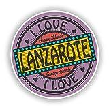 2 x Pegatinas de Vinilo Lanzarote para Equipaje de Viaje # 10560, 20cm/200mm Wide