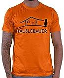 Hariz – Camiseta para hombre, diseño de casa con texto en alemán naranja XXXL