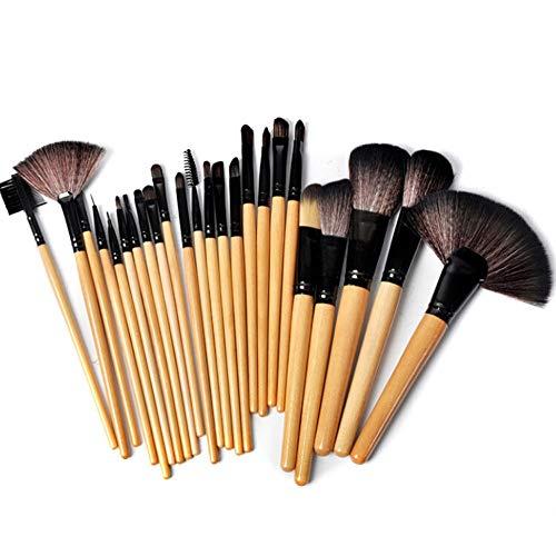 24pcs pinceaux de maquillage cosmétiques mis poudre de base eyeliner fard à paupières pinceau à lèvres pour belle femme Brosse à maquillage XXYHYQ (Color : 01, Size : Libre)