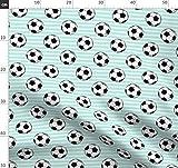 Fußball, Sport, Streifen Stoffe - Individuell Bedruckt von Spoonflower - Design von Littlearrowdesign Gedruckt auf Baumwollstoff Klassik