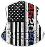 AOOEDM 45 Squared Second Term for Trump 2020 Neck Warm Scarf, interesante pañuelo en la cabeza, una variedad de fundas deportivas a prueba de viento, color negro, talla única