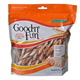 Good'n'Fun Healthy Hide Triple Twists Snack For Dogs Treats, 8.6 oz.