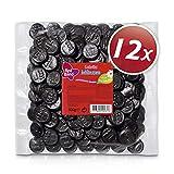 Red Band Lakritz Münzen - Großpackungen: 12er Pack (500 g Beutel) - Die Leckerste Währung aller Zeiten – Dunkel, Intensiv, Einfach Köstlich - Holländische Qualität - Süßigkeiten